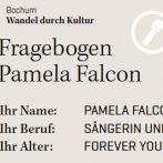 "Pamela Falcon interview for the book ""Bochum: Wandel durch Kultur"""