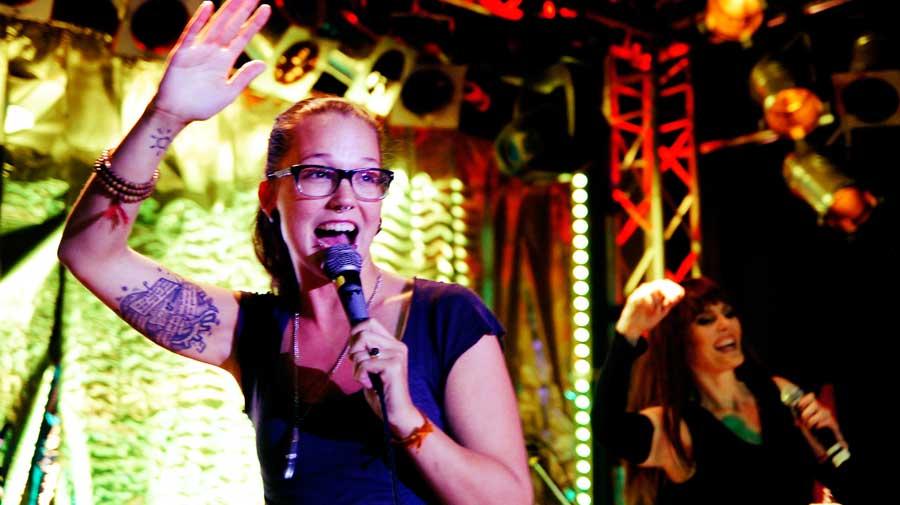 Stefanie-Heinzmann at the 12 year anniversary for New York Nights