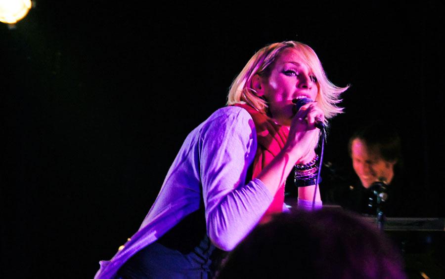 Ramona Nerra singing for New York Nights 12 year celebration