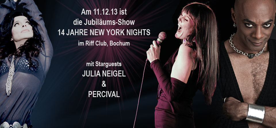 14 Jahre NEW YORK NIGHTS Show mit Julia Neigel - Percival - Pamela Falcon