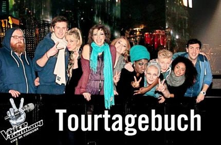 The Voice of Germany tour group 2013/14 (Pamela is a coach)