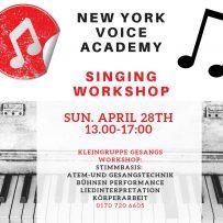 GESANGSWORKSHOP-SINGING WORKSHOP SUNDAY APRIL 28th