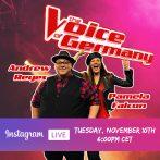 PAMELA FALCON & ANDREW REYES TONITE – INSTAGRAM LIVE TUES. NOV. 10th 18:00 UHR