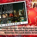 IT'S CHRISTMAS! SINGING GIFT VOUCHERS, GESCHENK GUTSCHEIN GESANGSSTUNDEN MIT PAMELA FALCON